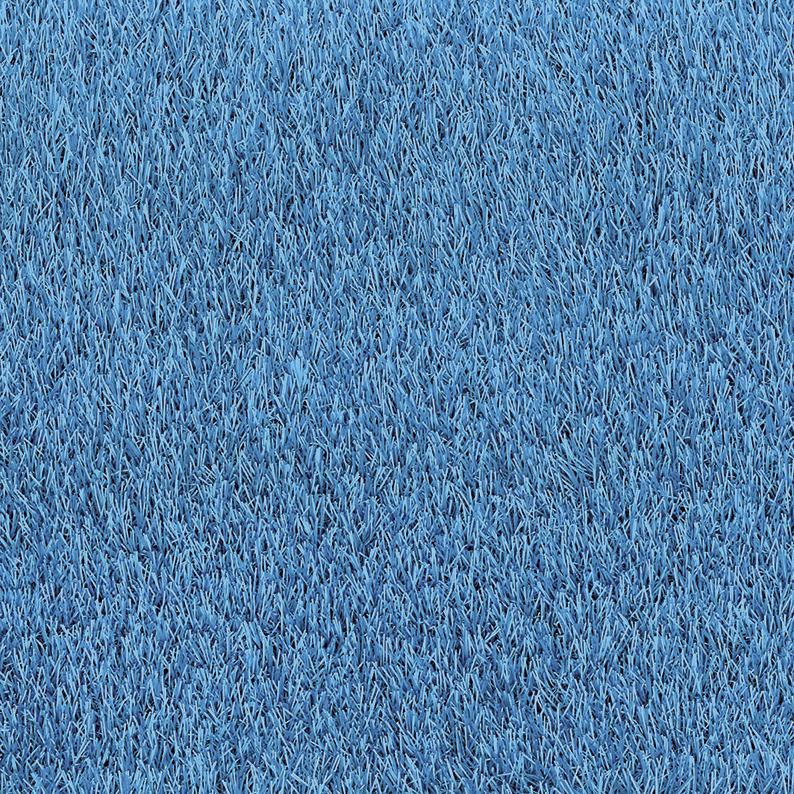 manto erba sintetica blu